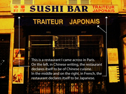 Deceptive Sushi Bar in Paris